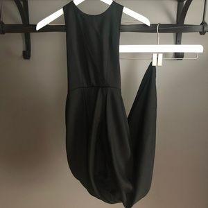 Lulu's Backless Black Dress
